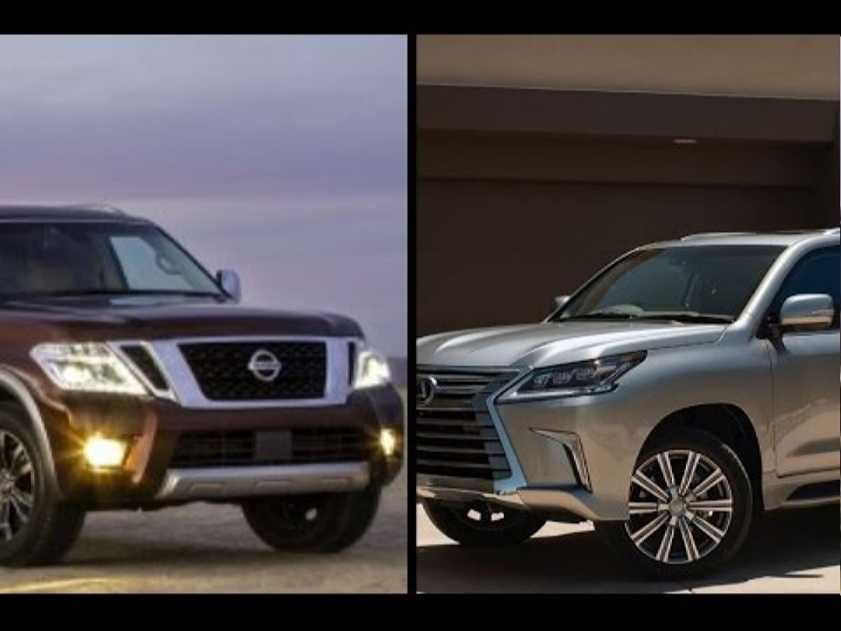 نيسان ولكزس - الأفضل 2017 Nissan Armada Platinum Vs 2016 Lexus Lx 570 Youtube أفكار